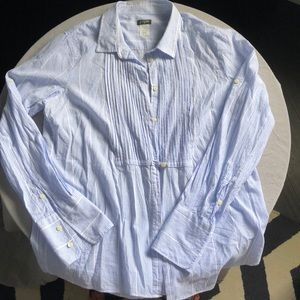 J Crew pinstriped button down shirt